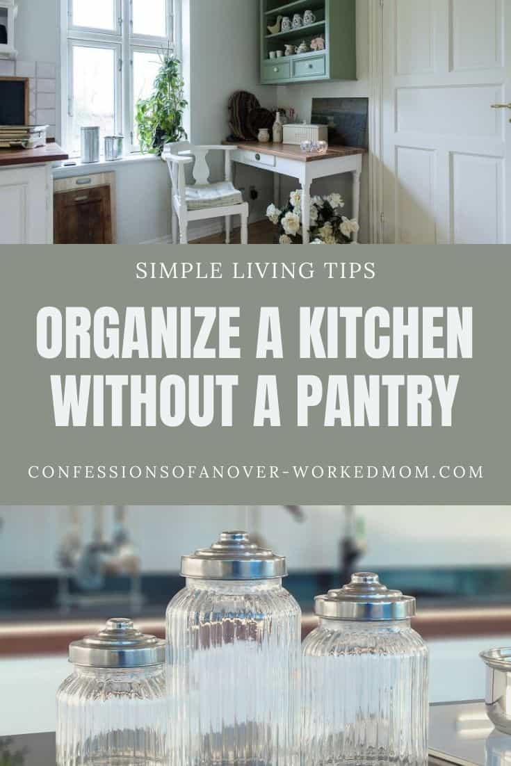 Wondering how to organize a kitchen without a pantry? Organize your kitchen on a budget with these simple kitchen organizing tips.