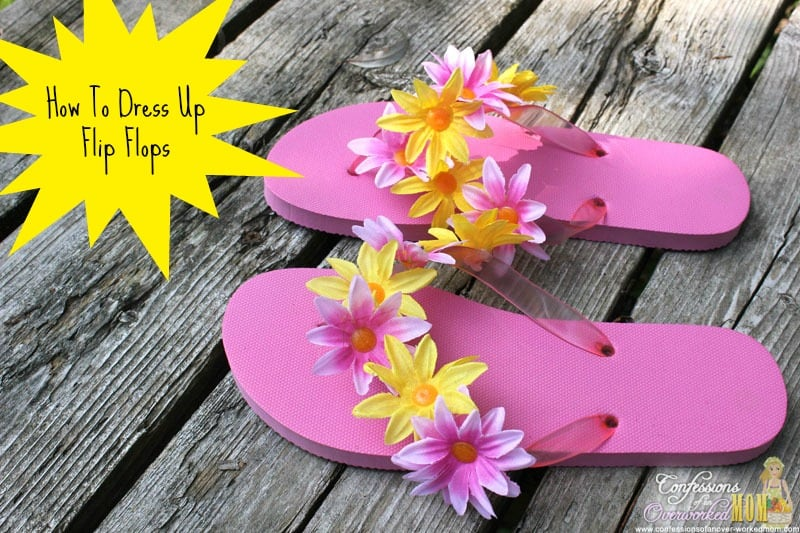 How to dress up flip flops