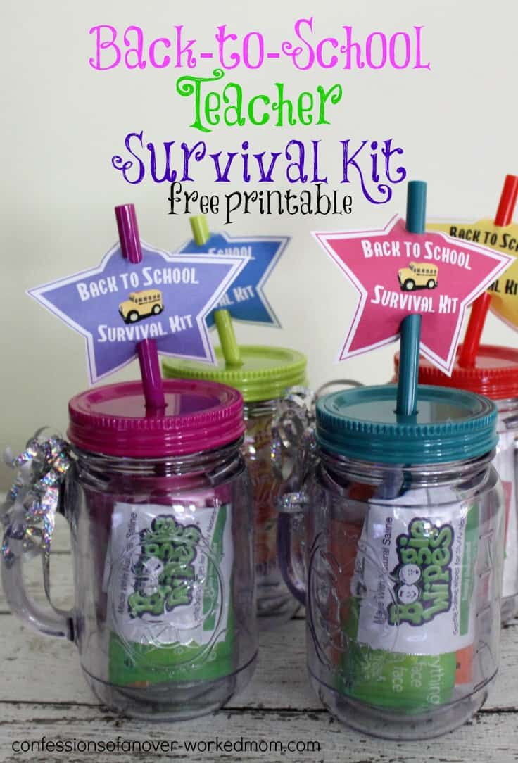 End of the Year and Back to School Teacher Survival Kit DIY with free printable
