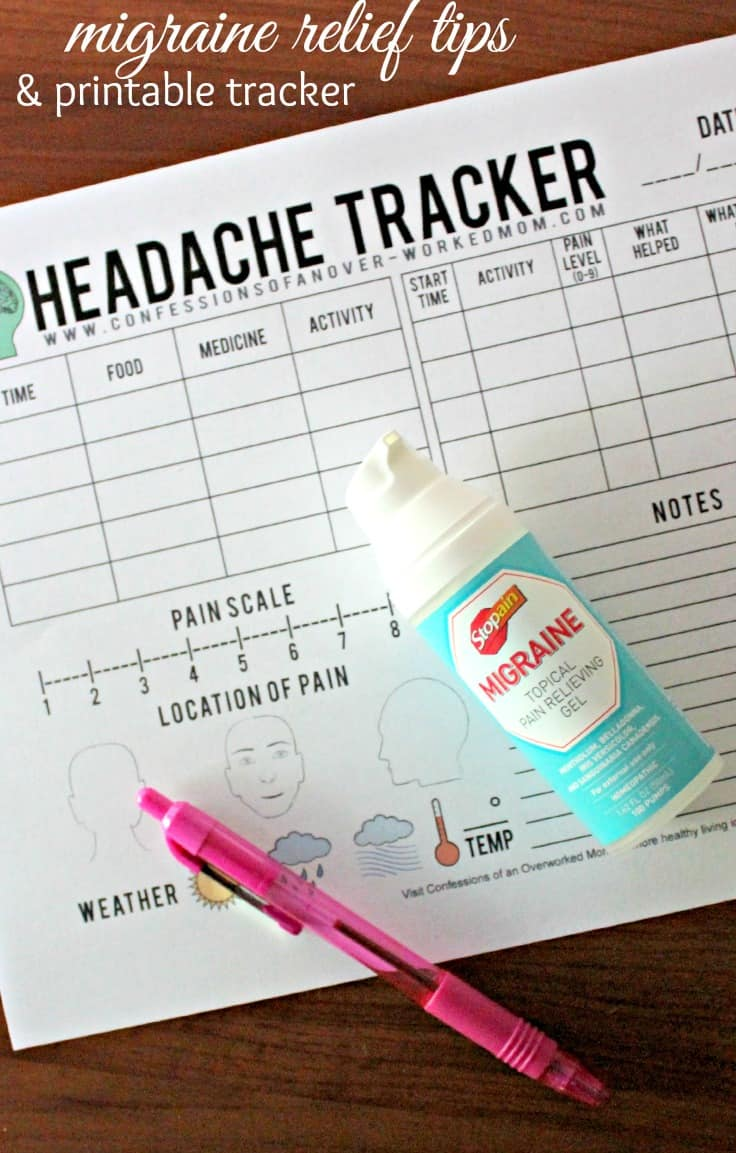 Printable Migraine Tracker