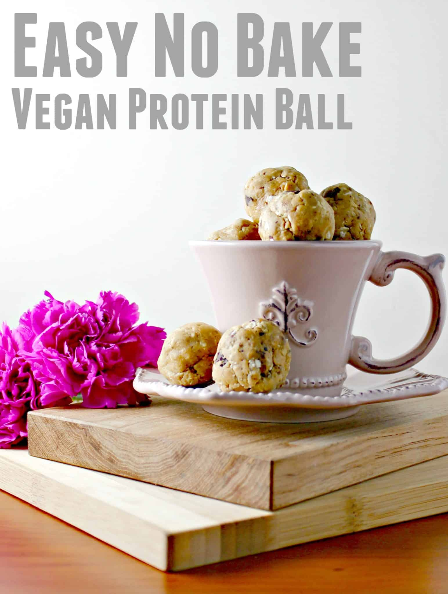 How to Make an Easy No Bake Vegan Protein Ball