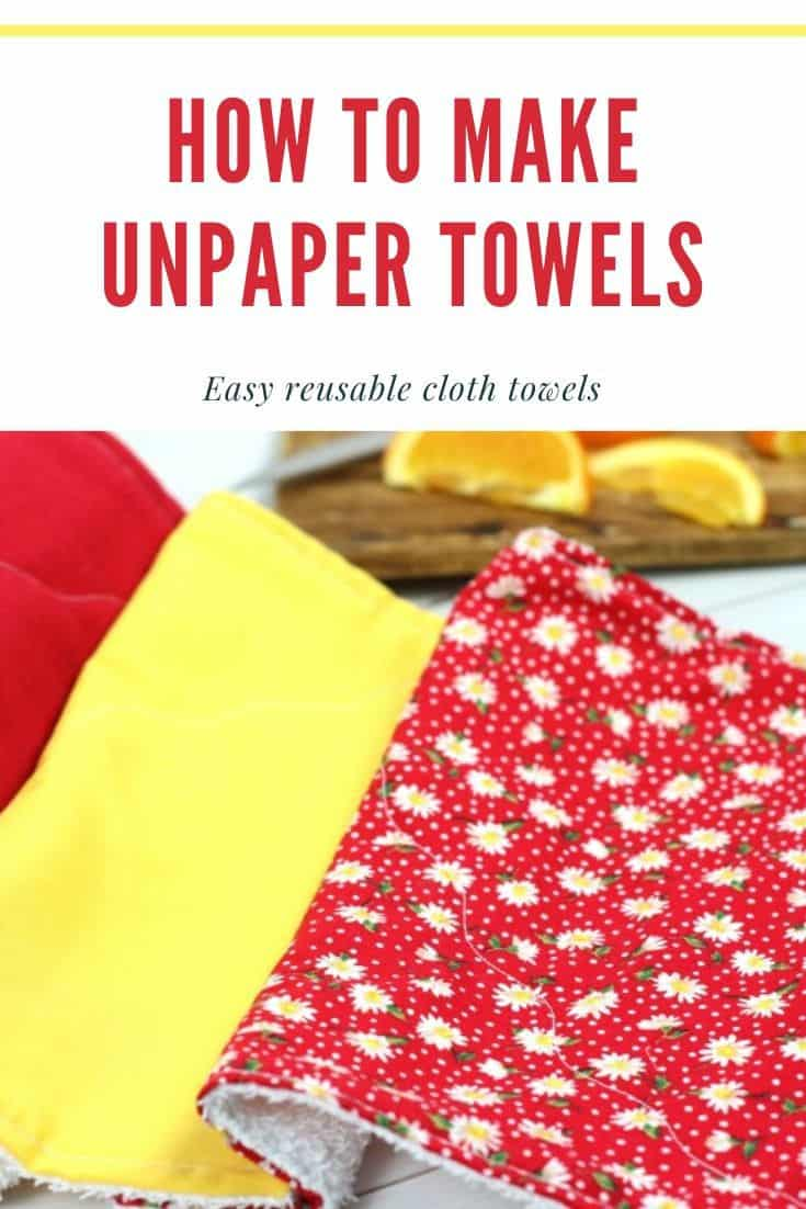 Make Unpaper Towels With This Simple DIY Tutorial